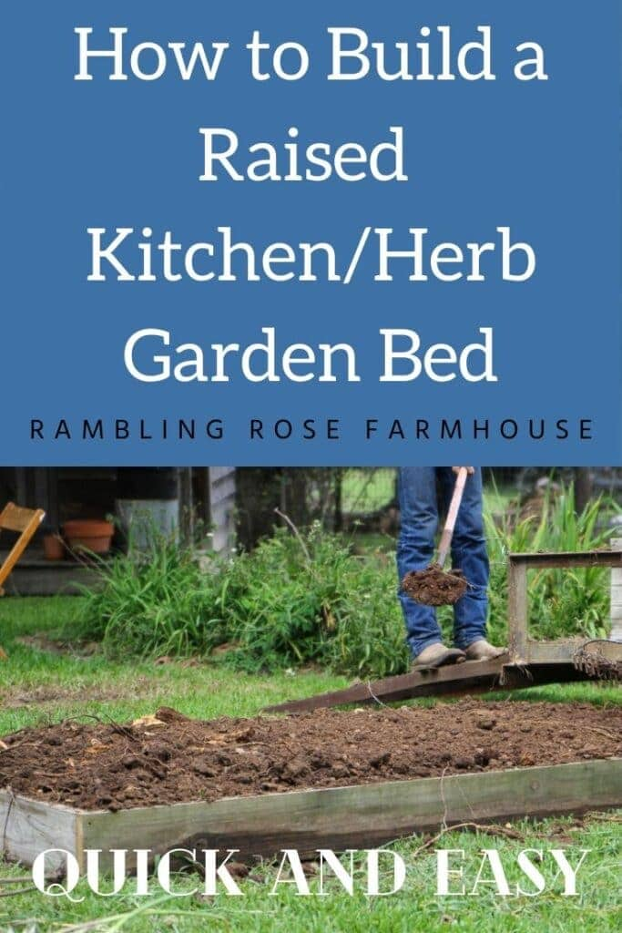 graphic how to build a raised kitchen/herb garden bed