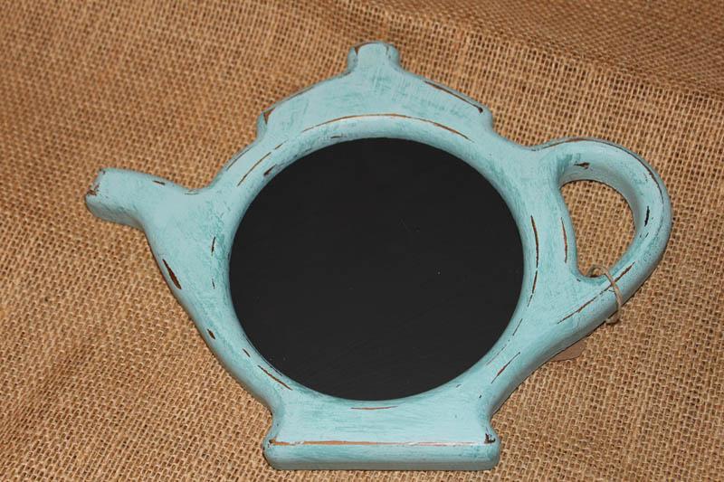 small teapot chalkboard