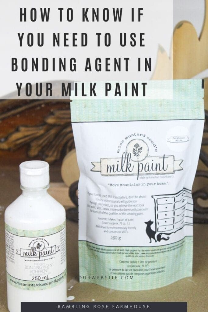 How do you know if you need to use bonding agent with your milk paint.