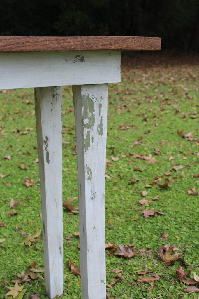 Chippy Milk Paint Farmhouse Table