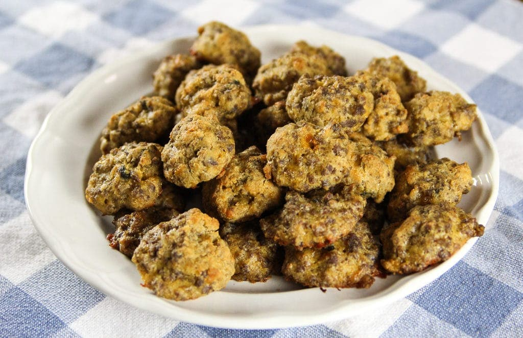 Delicious low carb sausage balls