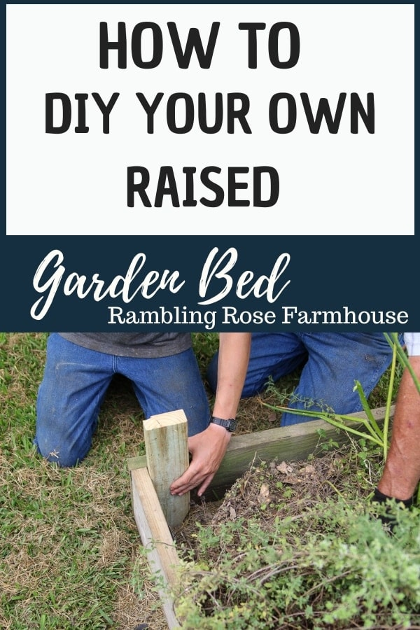 graphic how to DIY your own raised garden bed