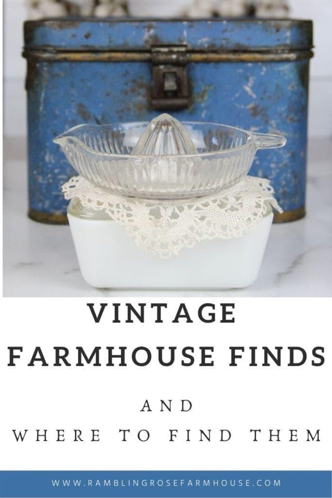 vintage farmhouse items