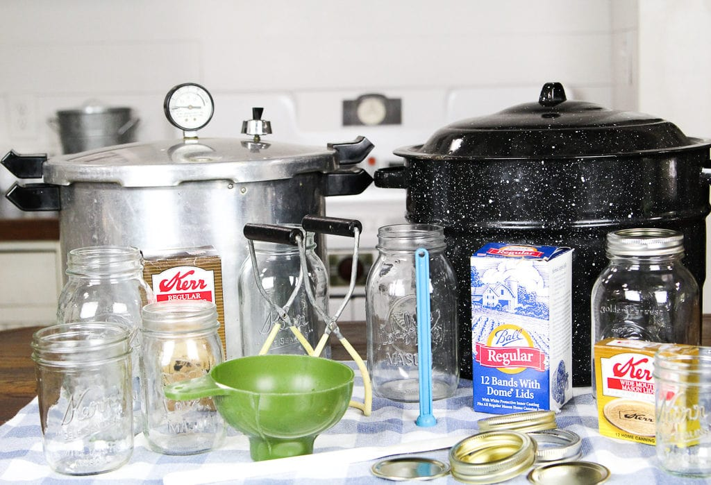 canners, lids, jars, for canning food